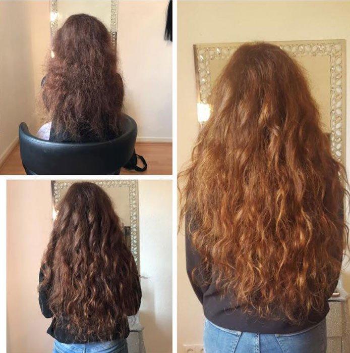 Haarverlängerung von der Haartante