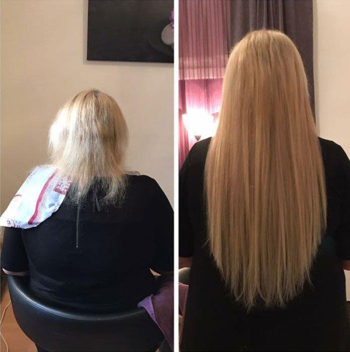 Haarextensions von der Haartante