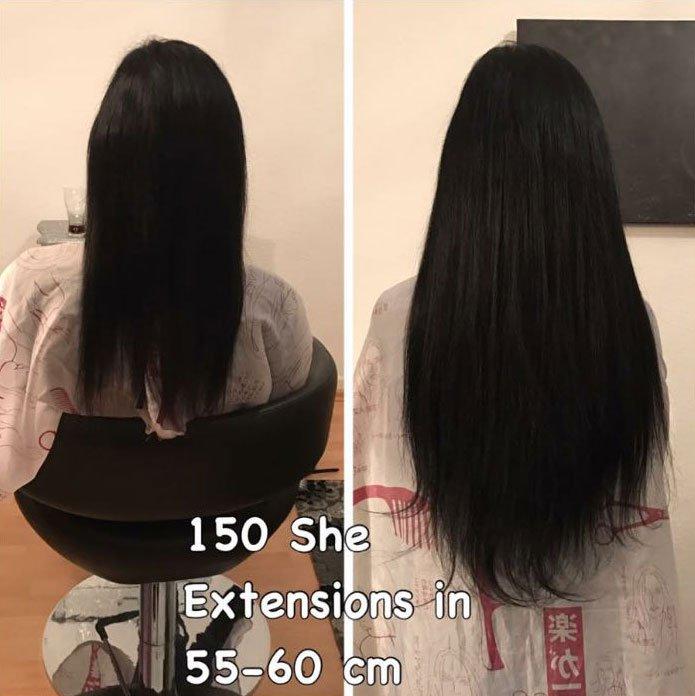 60 cm lange Haarverlängerung Essen