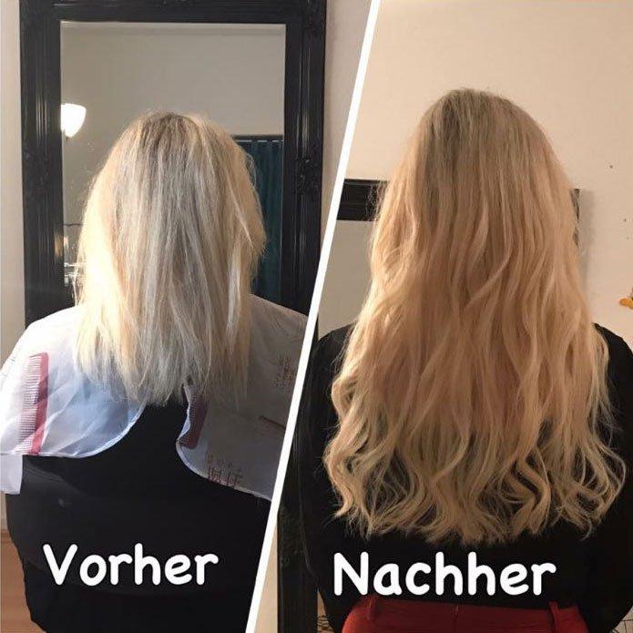 Haarverlängerung mit Locken