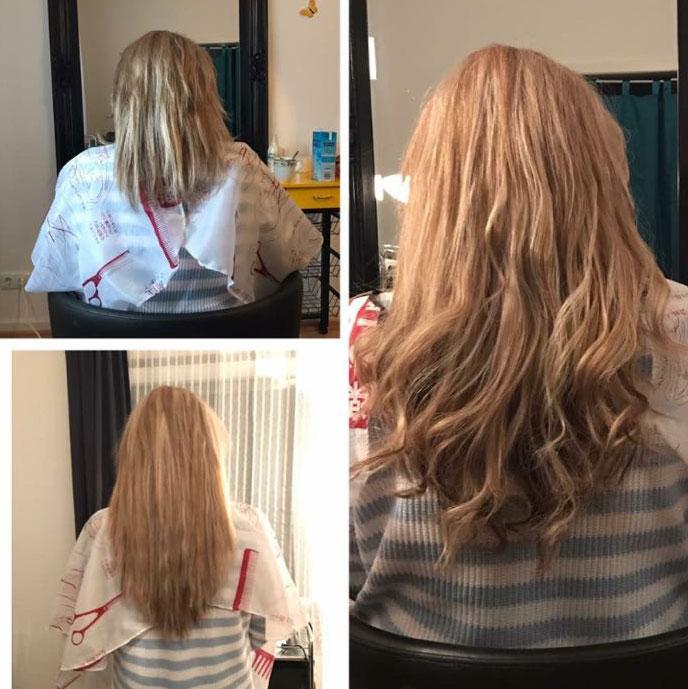Haarextensions in Blond von der Haartante